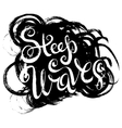 Steep Waves Surfing Print vector image vector image