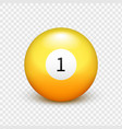 stock yellow ball for vector image vector image
