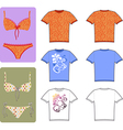 swimsuit and tee vector image vector image