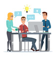 Teamwork office idea Business People Meeting vector image vector image