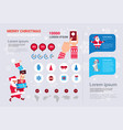 template infographics set winter holiday elements vector image