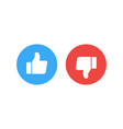 thumb icons like and dislike vector image