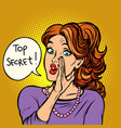 top secret women gossip rumor vector image vector image