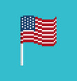 usa pixel flag pixelated banner america political vector image vector image