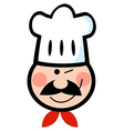 Winking Chef Face vector image vector image