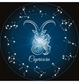 Zodiac capricorn sign vector image vector image
