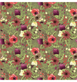 seamless background with flowers ornament vector image