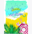 summer poster for travel agency vector image
