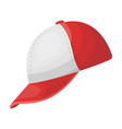 baseball cap baseball single icon in cartoon vector image