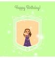 Happy Birthday card with fairy princess vector image