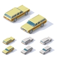 isometric cars vector image