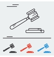 Line icon court hammer vector image