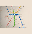 Abstract metro or subway map design template