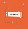abstract science banner with lines vector image