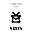 astrology asteroid vesta vector image vector image