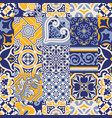 azulejos tiles checked abstract wallpaper vector image vector image