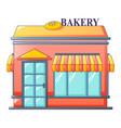 bakery street shop icon cartoon style vector image vector image