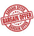 bargain offer red grunge round vintage rubber vector image vector image