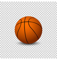 basketball isolated on blanck background vector image vector image