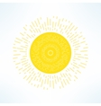 bright sun in modern flat design Hot solar vector image vector image
