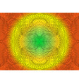 bright sunny decorative psychedelic ornament on vector image vector image