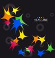 brochure header layout template vector image