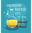 Chemical Laboratory Cartoon Concept vector image vector image
