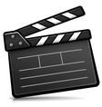 cinema clapperboard cartoon isolated vector image vector image