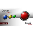 collection of five multi-colored glass icons vector image vector image