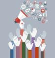 digital marketing concept vector image