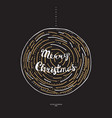 doodle christmas ball vector image vector image