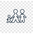 family man concept linear icon isolated on vector image vector image