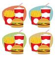 fast food set 4 vector image
