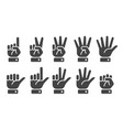 finger counting icon vector image vector image