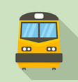 front train icon flat style vector image