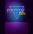 futuristic background 80s style party flyer vector image vector image