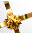 glossy golden bow vector image vector image
