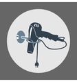 Hairdryer blow dryer with two-pin plug on stand vector image vector image