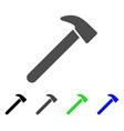 hammer flat icon vector image vector image