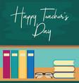 happy teachers day concept vector image vector image