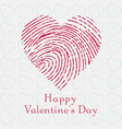 happy valentines day with light background vector image