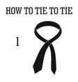 how to tie icon simple style vector image