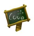 icon black board vector image vector image