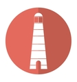 lighthouse search light guide shadow vector image