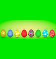 llustration of eight easter eggs vector image vector image