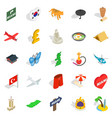 long-awaited vacation icons set isometric style vector image vector image