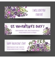 love banners design vector image vector image