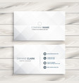 minimal white business card design template vector image vector image