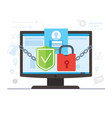 network internet security and online privacy vector image
