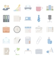 Office and marketing flat icons set vector image vector image